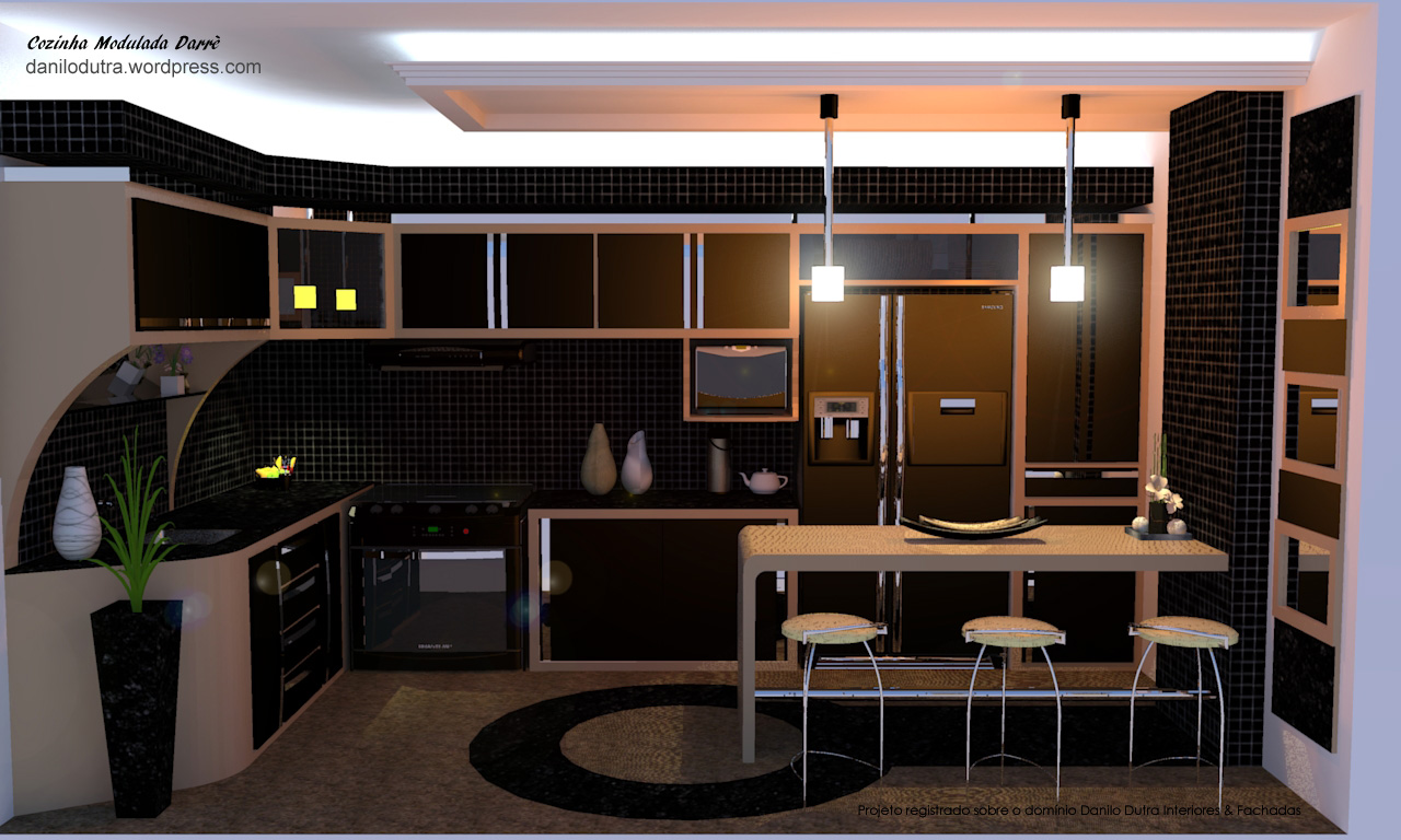 Cozinha Modulada Darrè Danilo Dutra Interiores e Fachadas #B0561B 1280 768