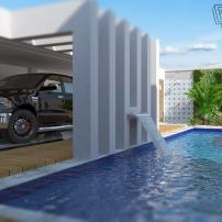 Projeto_AL: aproveitamento do terreno com elaboração de quintal com área gourmet
