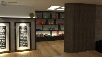 Apartamento com salas integradas à cozinha e varanda gourmet