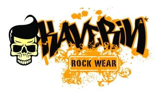 Logo para camiseteria descolada com tema rock